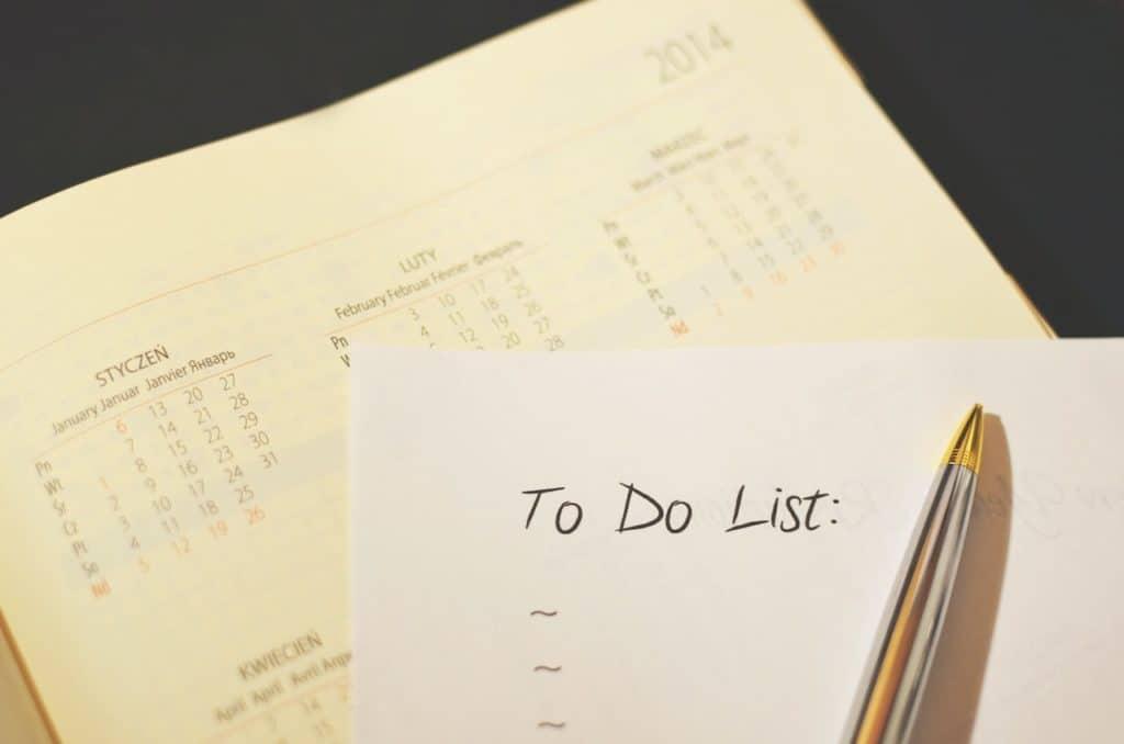 calendrier et to-do-list